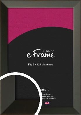 Flat Modern Black Picture Frame, 8x12