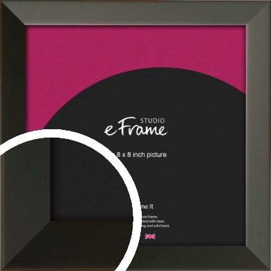 Flat Modern Black Picture Frame, 8x8