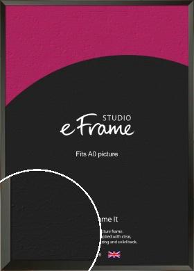 Flat Modern Black Picture Frame, A0 (841x1189mm) (VRMP-764-A0)