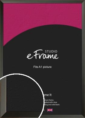 Flat Modern Black Picture Frame, A1 (594x841mm) (VRMP-764-A1)