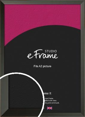 Flat Modern Black Picture Frame, A2 (420x594mm) (VRMP-764-A2)