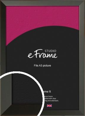 Flat Modern Black Picture Frame, A3 (297x420mm) (VRMP-764-A3)