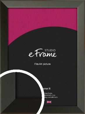 Flat Modern Black Picture Frame, A4 (210x297mm) (VRMP-764-A4)