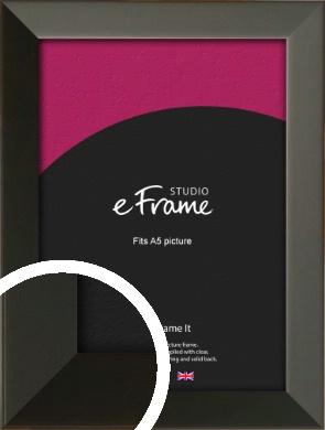 Flat Modern Black Picture Frame, A5 (148x210mm) (VRMP-764-A5)