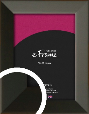 Flat Modern Black Picture Frame, A6 (105x148mm) (VRMP-764-A6)