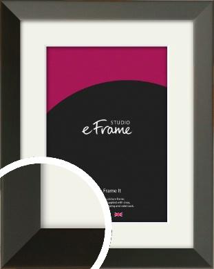 Flat Modern Black Picture Frame & Mount (VRMP-764-M)