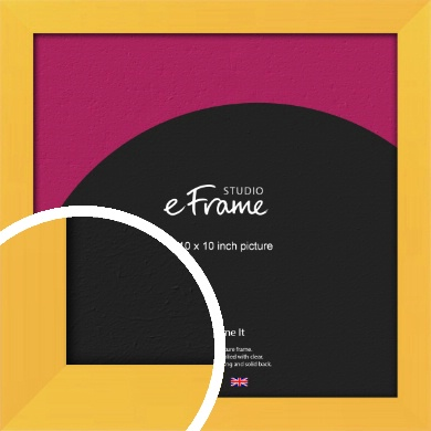 Fresh & Playful Yellow Picture Frame, 10x10