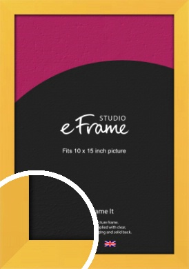 Fresh & Playful Yellow Picture Frame, 10x15