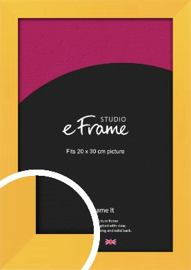 Fresh & Playful Yellow Picture Frame, 20x30cm (8x12