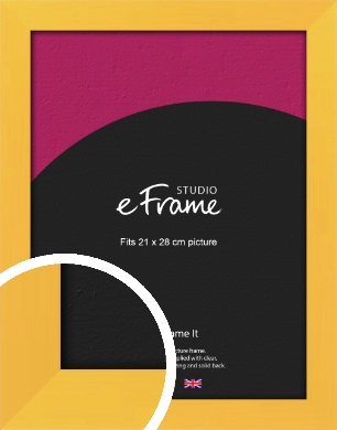 Fresh & Playful Yellow Picture Frame, 21x28cm (VRMP-760-21x28cm)