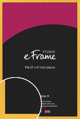 Fresh & Playful Yellow Picture Frame, 27x41