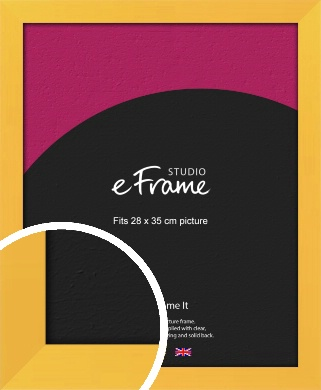 Fresh & Playful Yellow Picture Frame, 28x35cm (VRMP-760-28x35cm)