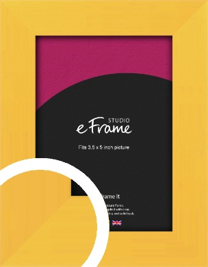 Fresh & Playful Yellow Picture Frame, 3.5x5