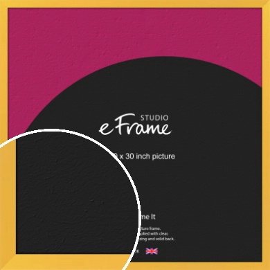 Fresh & Playful Yellow Picture Frame, 30x30