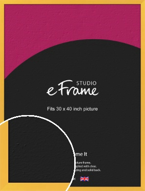 Fresh & Playful Yellow Picture Frame, 30x40