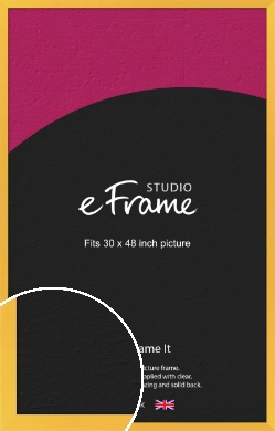 Fresh & Playful Yellow Picture Frame, 30x48