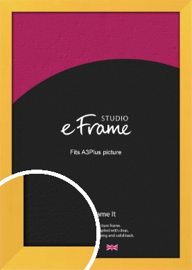 Fresh & Playful Yellow Picture Frame, A3Plus (VRMP-760-329x483mm)