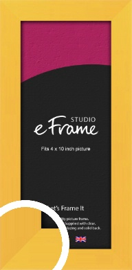 Fresh & Playful Yellow Picture Frame, 4x10
