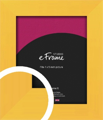 Fresh & Playful Yellow Picture Frame, 4x5
