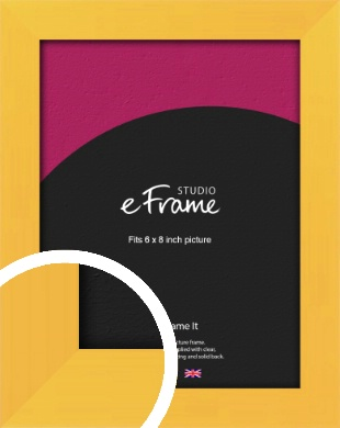 Fresh & Playful Yellow Picture Frame, 6x8