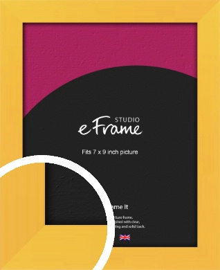 Fresh & Playful Yellow Picture Frame, 7x9