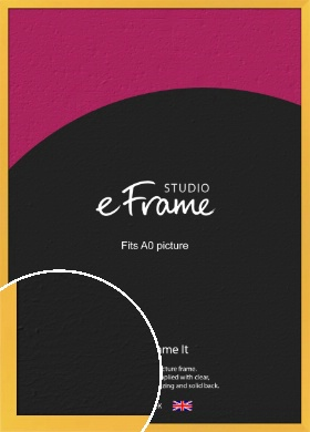 Fresh & Playful Yellow Picture Frame, A0 (841x1189mm) (VRMP-760-A0)