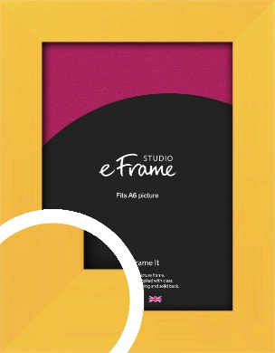 Fresh & Playful Yellow Picture Frame, A6 (105x148mm) (VRMP-760-A6)