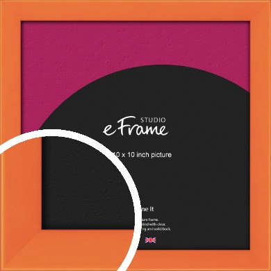 Matte Intense Orange Picture Frame, 10x10
