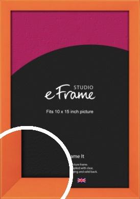 Matte Intense Orange Picture Frame, 10x15