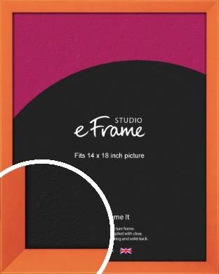 Matte Intense Orange Picture Frame, 14x18