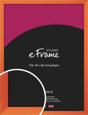 Matte Intense Orange Picture Frame, 18x24