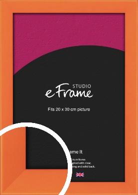 Matte Intense Orange Picture Frame, 20x30cm (8x12
