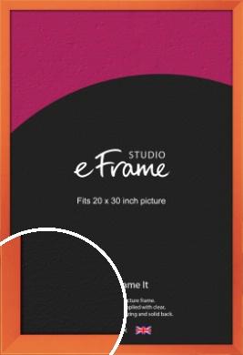 Matte Intense Orange Picture Frame, 20x30