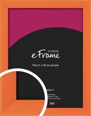 Matte Intense Orange Picture Frame, 21x28cm (VRMP-750-21x28cm)