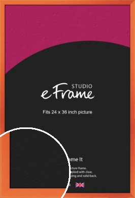 Matte Intense Orange Picture Frame, 24x36