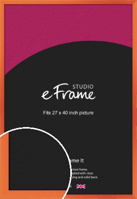 Matte Intense Orange Picture Frame, 27x40