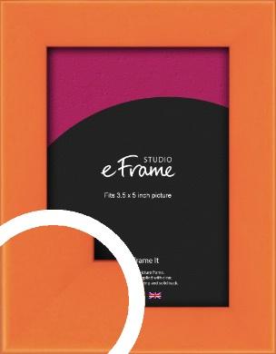 Matte Intense Orange Picture Frame, 3.5x5