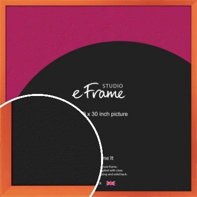 Matte Intense Orange Picture Frame, 30x30