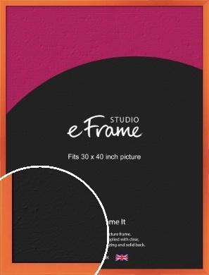 Matte Intense Orange Picture Frame, 30x40