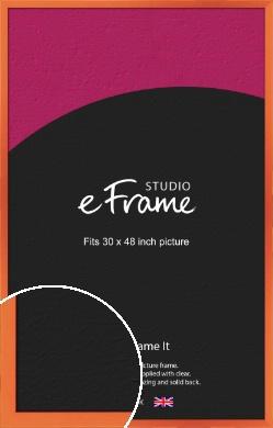 Matte Intense Orange Picture Frame, 30x48