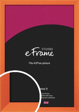 Matte Intense Orange Picture Frame, A3Plus (VRMP-750-329x483mm)