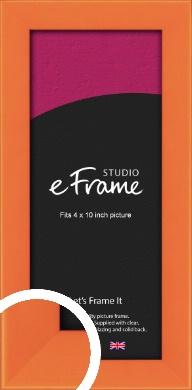 Matte Intense Orange Picture Frame, 4x10
