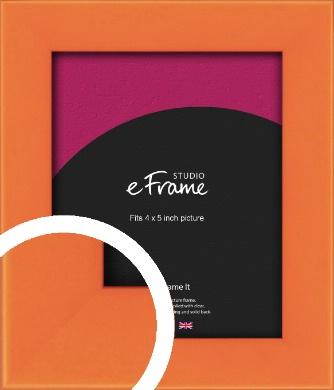Matte Intense Orange Picture Frame, 4x5