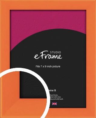 Matte Intense Orange Picture Frame, 7x9