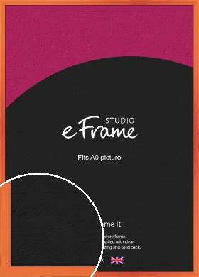 Matte Intense Orange Picture Frame, A0 (841x1189mm) (VRMP-750-A0)