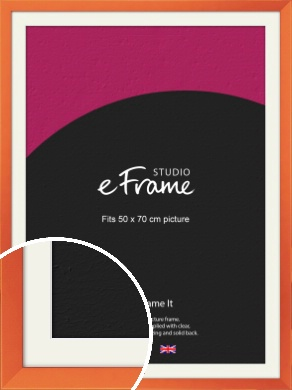 Matte Intense Orange Picture Frame & Mount, 50x70cm (VRMP-750-M-50x70cm)