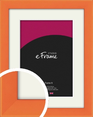 Matte Intense Orange Picture Frame & Mount (VRMP-750-M)