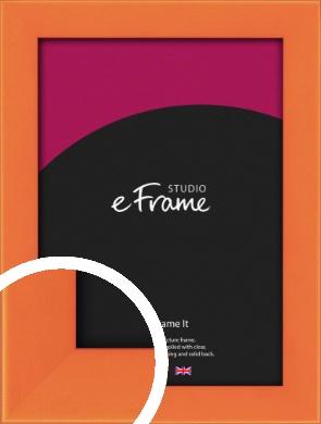 Matte Intense Orange Picture Frame (VRMP-750)