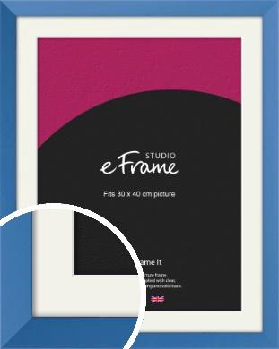 Calming Blue Picture Frame & Mount, 30x40cm (VRMP-768-M-30x40cm)