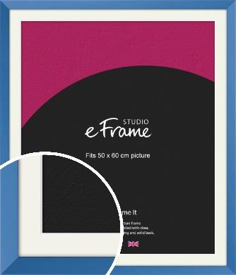 Calming Blue Picture Frame & Mount, 50x60cm (VRMP-768-M-50x60cm)